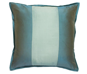 Profiles Silk Turquoise Euro Shams Mystic Valley Traders - unique linens online
