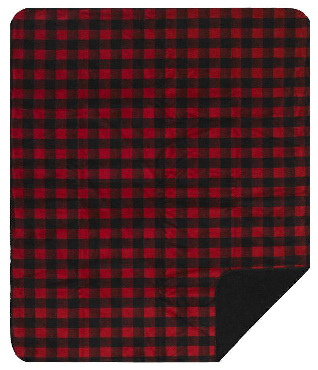 Large Bunk House Plaid Denali Blanket - unique linens online