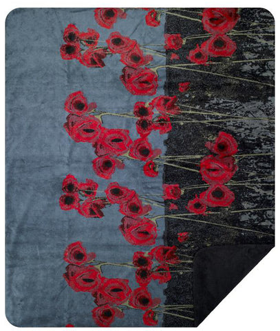 Poppies Denali Blanket - unique linens online