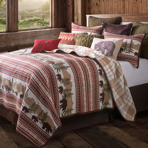 Bear Trail Quilt Sets HiEnd Accents - unique linens online