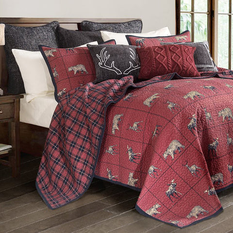 Woodland Plaid Quilt Sets HiEnd Accents - unique linens online