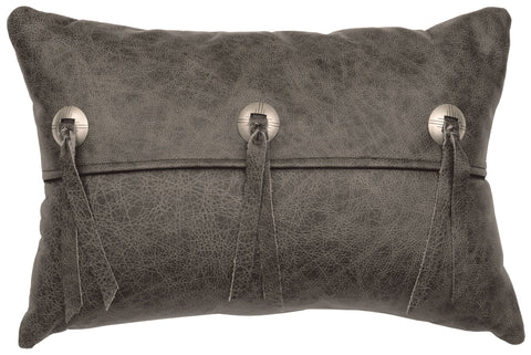 Leather Pillow Wooded River WD80232 - unique linens online