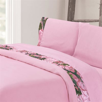 Pink Camo Sheet Sets HiEnd Accents