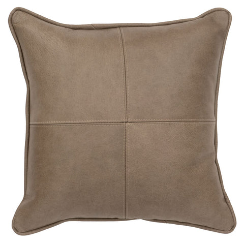 Leather Pillows Wooded River WD80228 - unique linens online