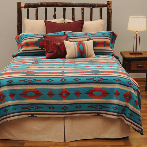 Crystal Creek Bedspread Wooded River - Unique Linens Online