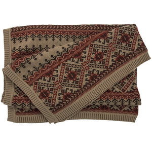 Fair Isle Knit Throw - unique linens online