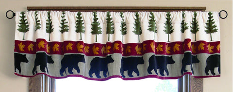 Tall Pine Valance Carstens - unique linens online