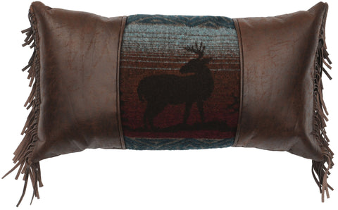 Deer Meadow Oblong Pillow Wooded River - unique linens online