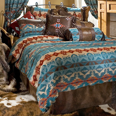 Turquoise Chamarro Comforter Set Collection Carstens