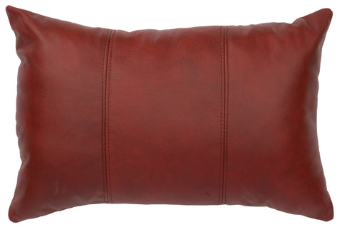 Leather Pillow Wooded River WD80254 - unique linens online