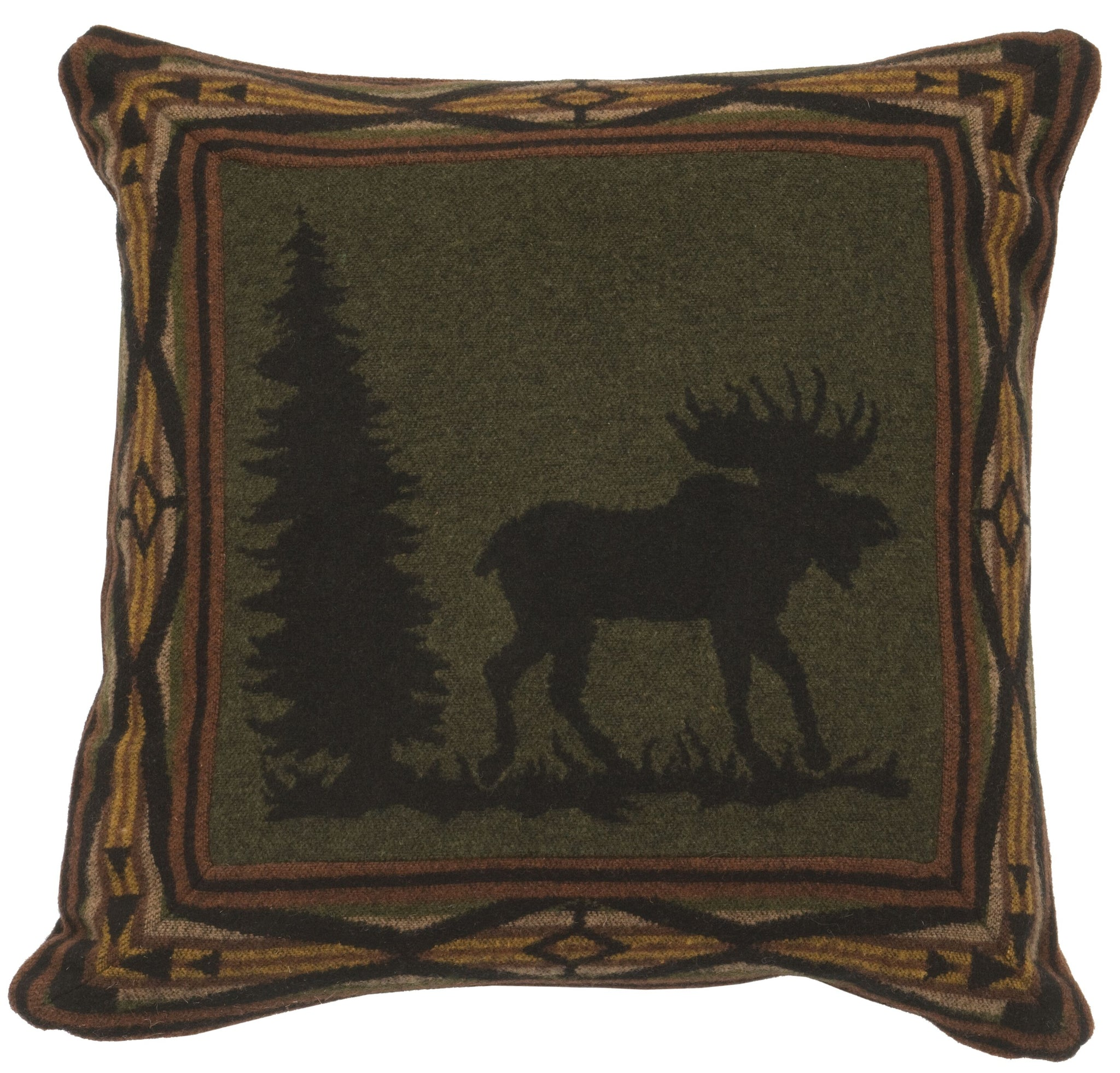 Moose 1 Eurosham Wooded River - unique linens online