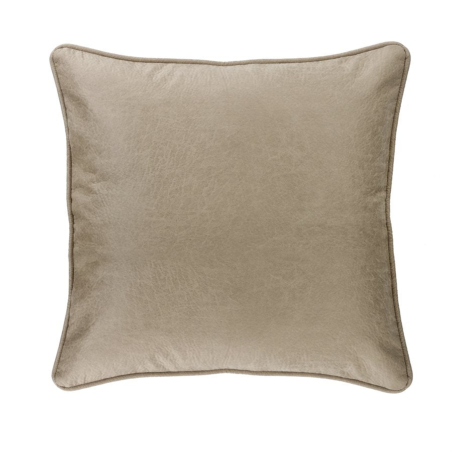 Silverado Faux Leather Euro Sham HiEnd Accents - unique linens online