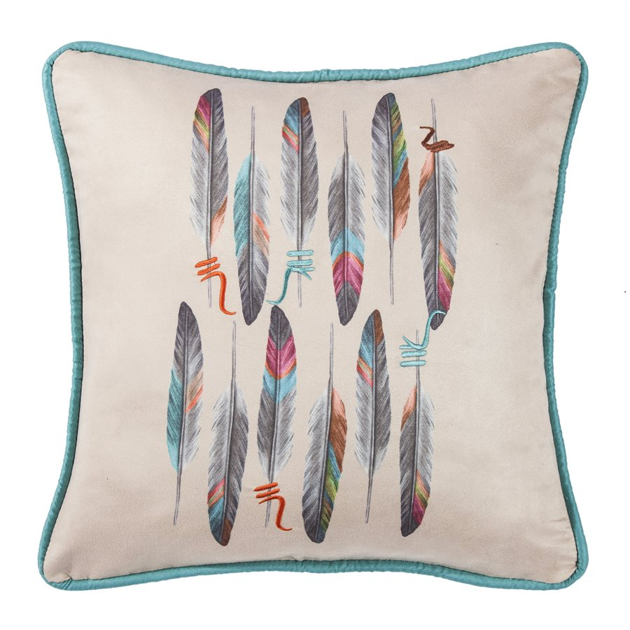 Feather Colorful Pillow HiEnd Accents - unique linens online