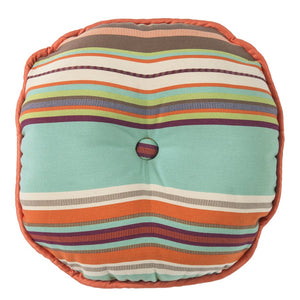 Serape Round Tufted Pillow HiEnd Accents