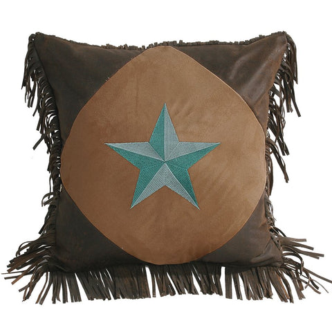 Laredo Turquoise Star Pillow HiEnd Accents - unique linens online
