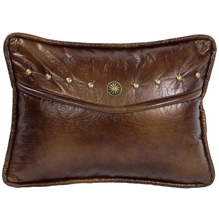 Oblong Decorative Faux Leather Pillow HiEnd Accents - unique linens online