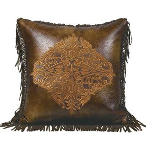 Austin Faux Leather Accent Pillow HiEnd Accents - unique linens online