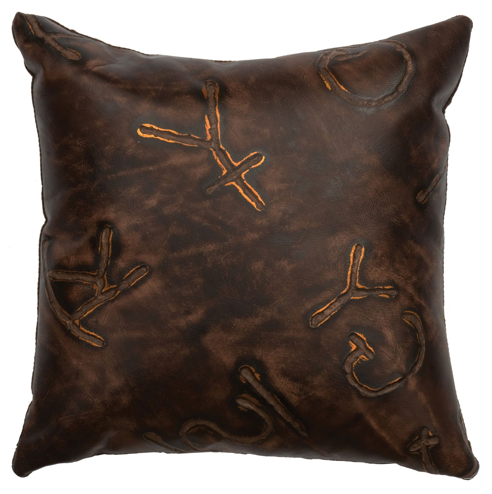 Leather Pillow Wooded River WD80202 - unique linens online