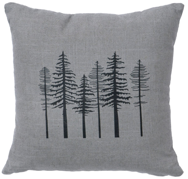 Trees Linen Pillow Wooded River - unique linens online