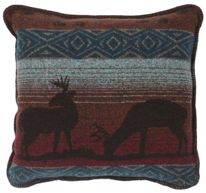 Deer Meadow Pillow Wooded River