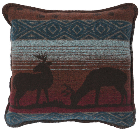 Deer Meadow Pillow Wooded River - unique linens online