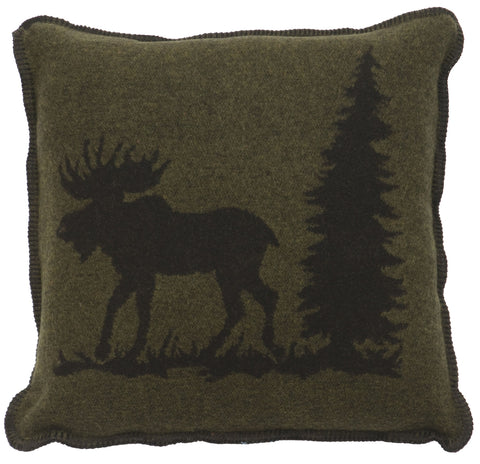 Moose 1 Pillow Wooded River - unique linens online