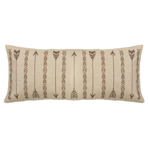 Arrows Oblong Burlap Pillow - unique linens online