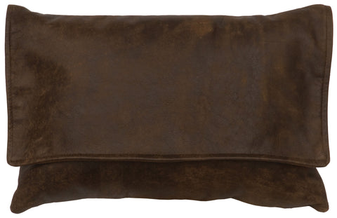 Leather Pillows Wooded River WD80204 - unique linens online