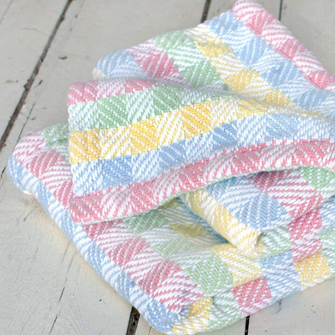 Tourmaline Cotton Baby Blanket - unique linens online