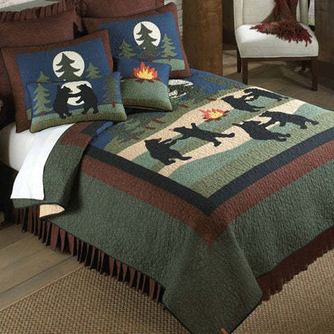 Bear Dance Cotton Quilt Set - unique linens online