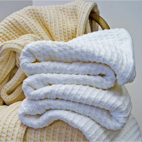 Bethel Cotton Blankets - unique linens online