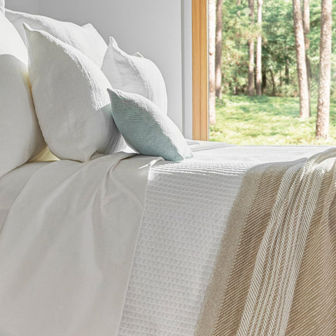 Edgecomb Cotton Blankets - unique linens online