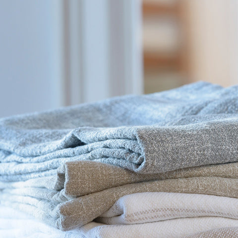 Lexington Cotton Linen Blankets - unique linens online
