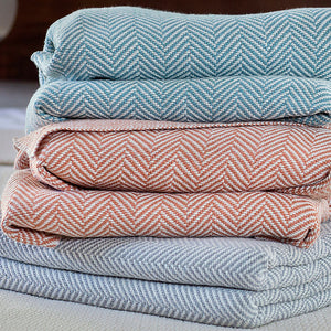 Penobscot Cotton Blankets - unique linens online