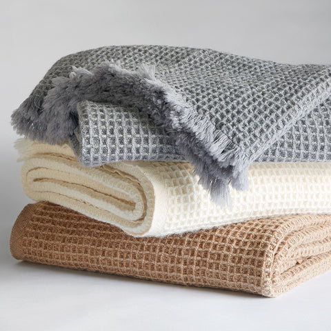 Searsport Wool Throw - unique linens online