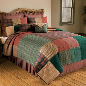 Campfire Square Cotton Quilt Set - Unique Linens Online