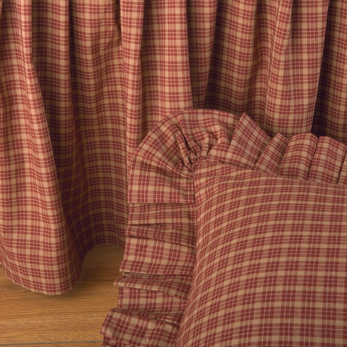Campfire Square Gathered Bedskirt - unique linens online