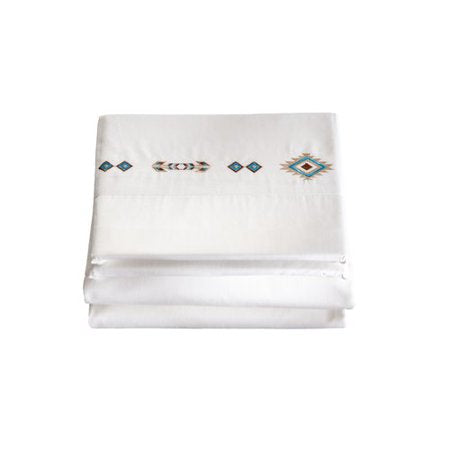 Embroidered Southwest Diamond Sheets Carstens - unique linens online