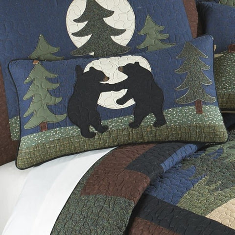 Bear Dance Oblong Pillow - unique linens online