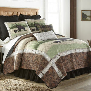 Birch Bear Cotton Quilt Set - unique linens online