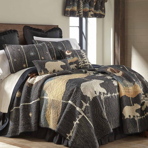 Moonlit Bear Cotton Quilt Set - unique linens online