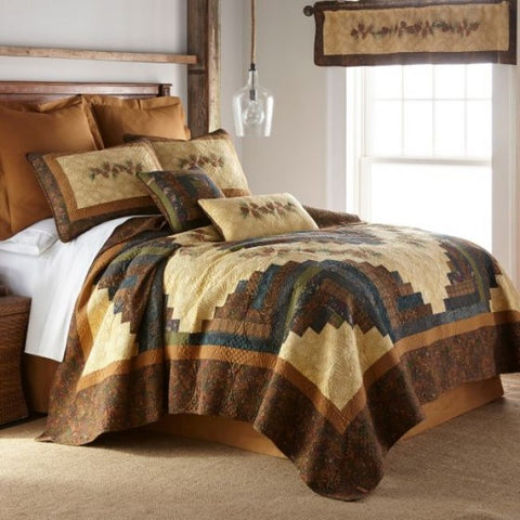 Cabin Raising Pinecone Quilt Set - unique linens online