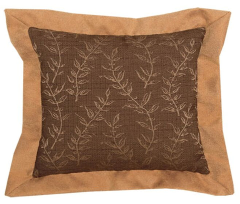 Autumn Leaf Pillow Wooded River - unique linens online