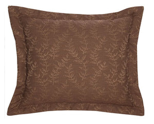 Autumn Leaf Euro Shams Wooded River - unique linens online