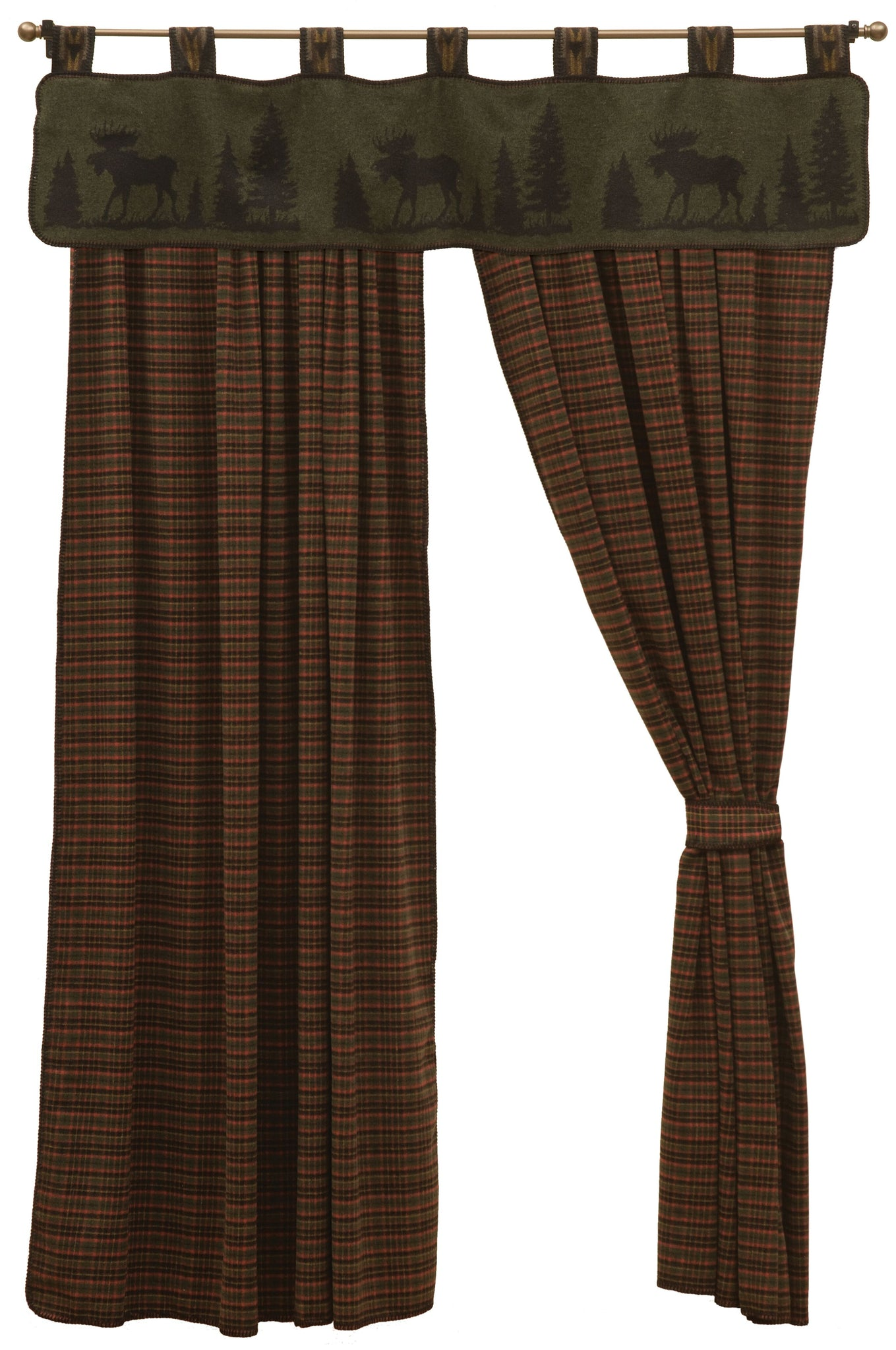 Moose 1 Drape Sets Wooded River - unique linens online