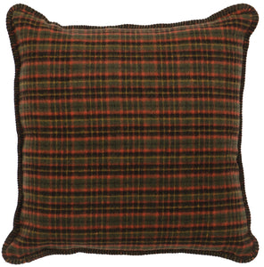 Moose 1 Plaid Pillow Wooded River - unique linens online