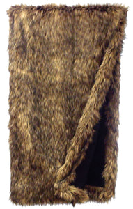 Coyote Fur Throw Wooded River - Unique Linens Online