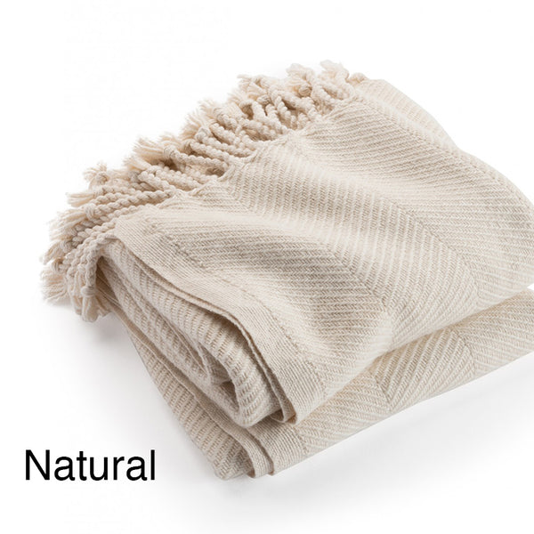 Islesboro Cotton / Alpaca Throw - unique linens online