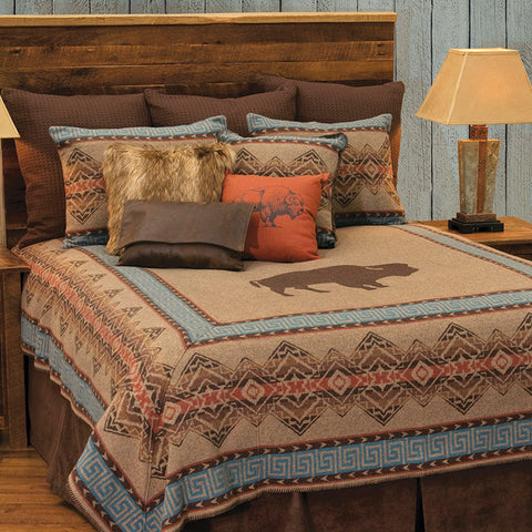 Bison Ridge 1 Bedspread Wooded River - Unique Linens Online