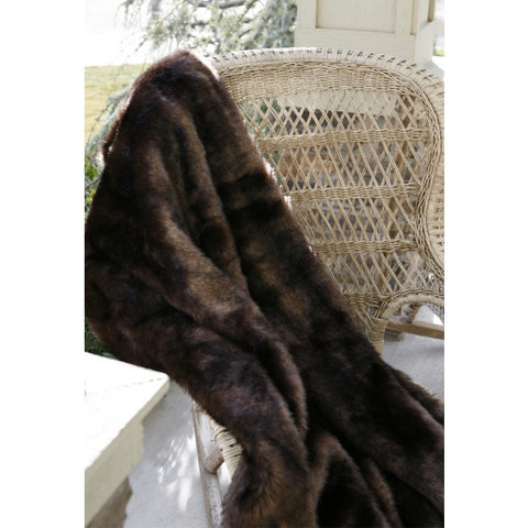 Bear Faux Fur Throw Carstens - unique linens online